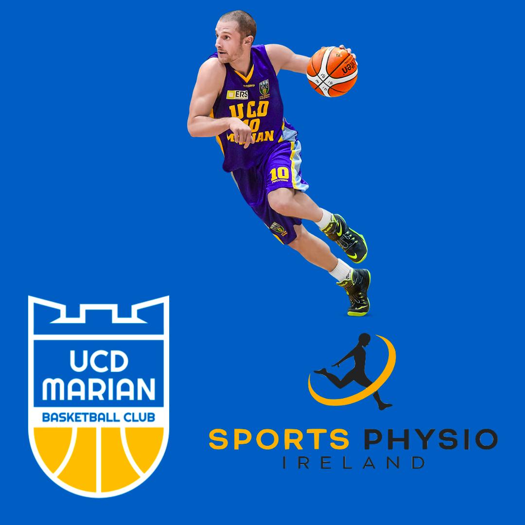 New partnership between Sports Physio Ireland and UCD Marian Basketball Club